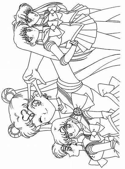 Coloring Pages Sailor Sailormoon Moon Tuxedo Mask