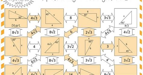Special Right Triangle, Maze And Student