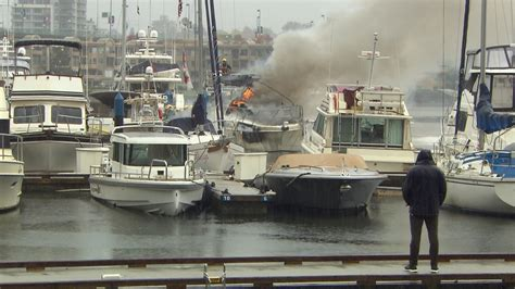 Bc Fire Boat by Crews Knock Down Large Boat Fire In False Creek Ctv