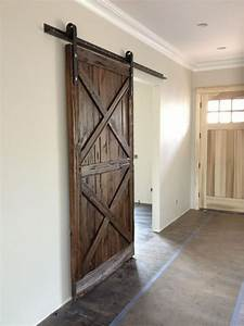 double x pattern mushroom wood sliding barn door barn With barn wood bifold doors