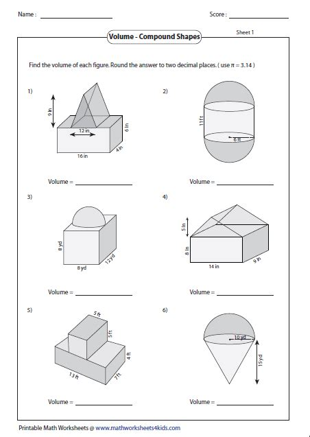 volume of irregular objects worksheet the best and most