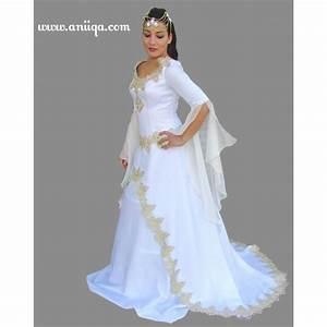 Robe a la mode robe blanche mariage musulman for Robe de mariage orientale