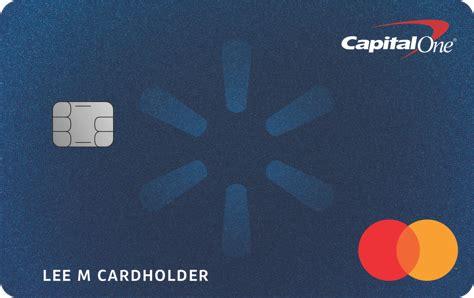 Woman smiling and looking at her amazon credit card. 🥇 Walmart Rewards Mastercard   ¿la mejor para ti? 🔍