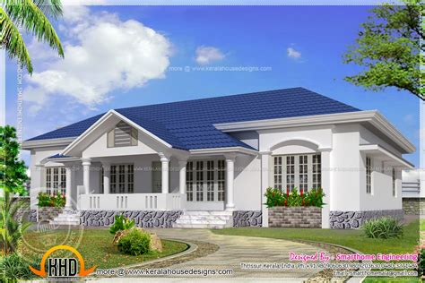 stunning ground house plans ideas beautiful single storied 4 bed room villa kerala home