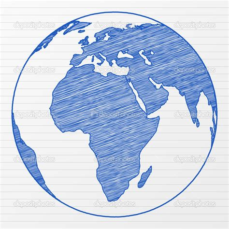 World Globe Pencil Drawing
