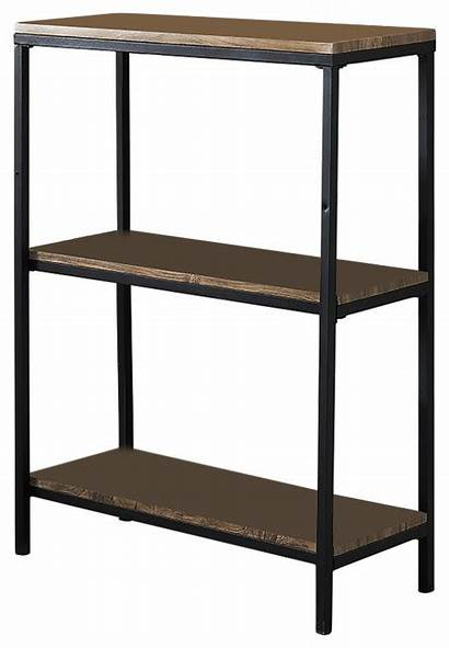 Metal Shelf Frame Tier Wood Bookcase Storage