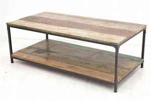 Table Basse Fer Et Bois : table basse en bois et fer tables basses carr es somum ~ Teatrodelosmanantiales.com Idées de Décoration