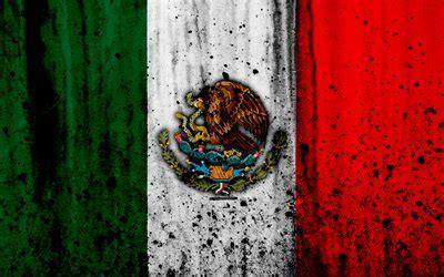 descargar fondos de pantalla bandera mexicana  grunge
