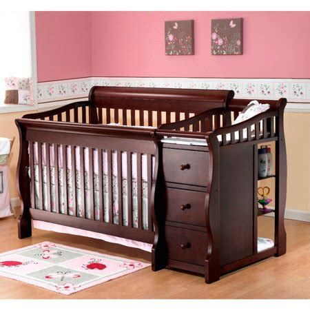 4 in 1 crib with changing table sorelle tuscany 4 in 1 convertible crib and changing table