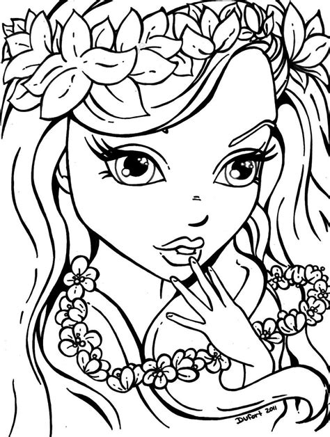 Printable Girl Coloring Pages Mermaid coloring pages