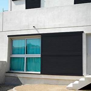Volets En Aluminium : volet coulissant sur mesure en aluminium simple vantail ~ Melissatoandfro.com Idées de Décoration