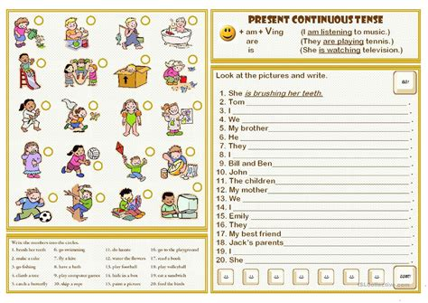 worksheet present progressive worksheets grass fedjp