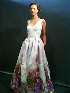 Watercolor painting dress fashion wedding dresses for Watercolor wedding dress