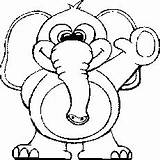 Coloring Elephant Dumbo Animal Coloringhome Related sketch template