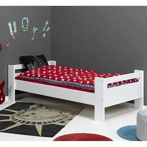 Lit Sommier 90x190 : lit enfant avec sommier 90x190 paulblcm01b ~ Teatrodelosmanantiales.com Idées de Décoration