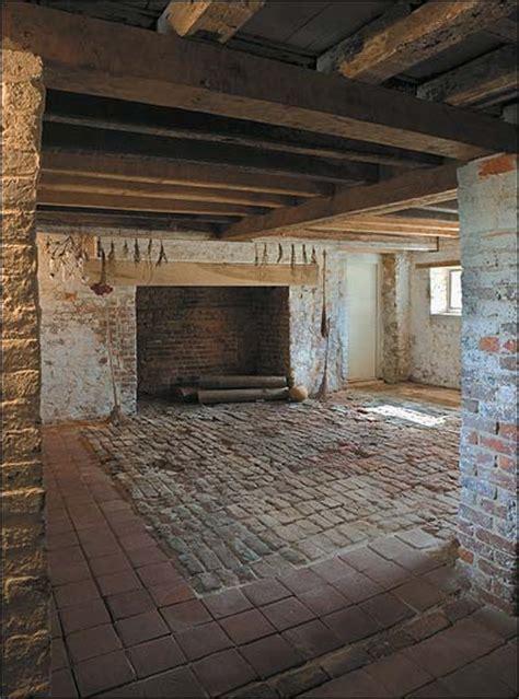brick kitchen flooring housing colonial days 1790