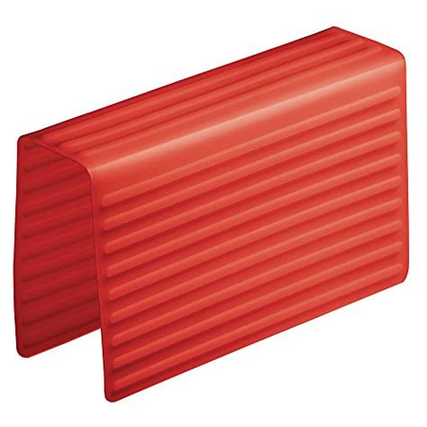 interdesign lineo silicone sink divider protector red