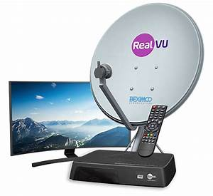RealVU Own Satellite Dish (DTH Service) 100SD+5HD ...