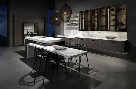 Moderne Küche Mit Weißer Arbeitsplatte In Marmoroptik