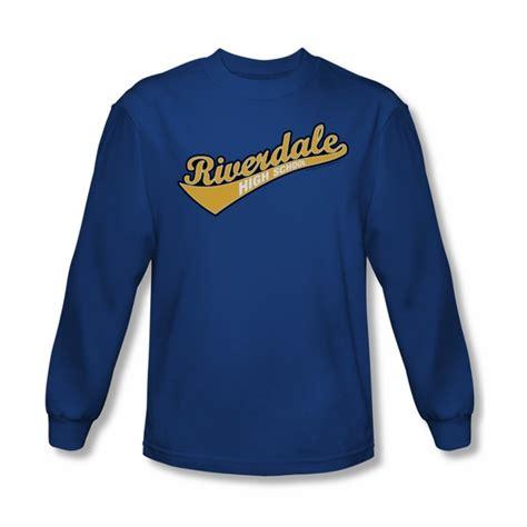 Archie <b>Shirt</b> <b>Riverdale</b> High School Long Sleeve Royal Blue Tee T-<b>Shirt</b> - Archie <b>Riverdale</b> High ...