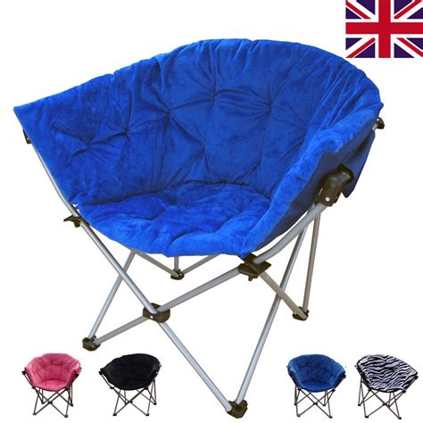 Folding Moon Saucer Chair by Large Folding Fishing Cing Saucer Club Moon Chairs
