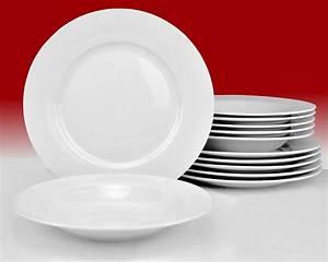 Tafelservice 12 Personen : tafelservice trend 24tlg f r 12 personen porzellan tafelservice ohne dekor ~ Frokenaadalensverden.com Haus und Dekorationen