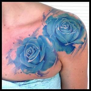 Blue Rose Tattoos - Askideas.com