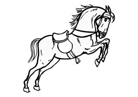 Springend Paard Kleurplaat by Kleurplaat Springend Paard Afb 10361