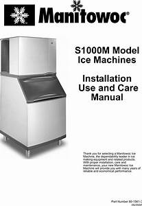 Manitowoc Ice S1000m Users Manual S1000m Uc 8015613