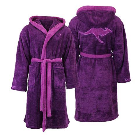 robe de chambre capuche kangaroos unisexe capuche peignoir de bain robe chambre ebay
