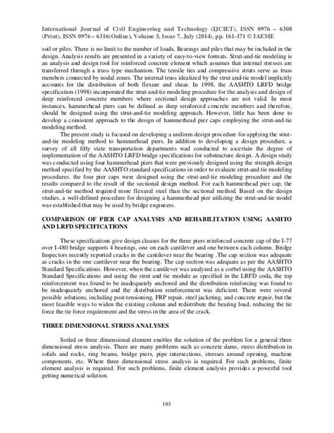 Comparison of pier cap analysis and rehabilitation using