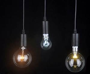 Pendant lighting bulbs : Led w big ball bulbs pendant lighrting contemporary