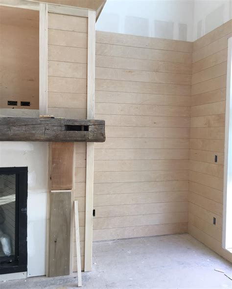 Plywood For Shiplap by Shiplap Is 1 4 Quot Plywood Underlayment Sheetrock Much