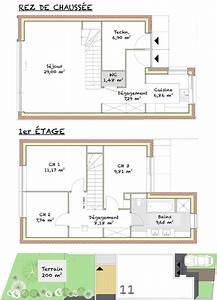 plan de maison moderne 200m2 With plan de maison 200m2