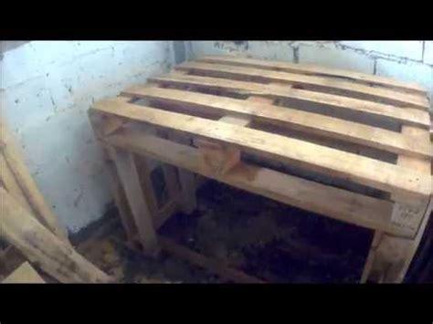 diy pallet workbench youtube