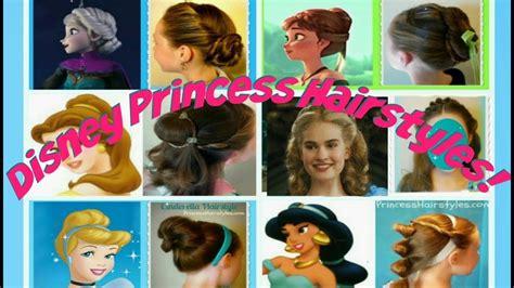 disney princess hair styles 6 disney princess hair tutorials hairstyles for 3322