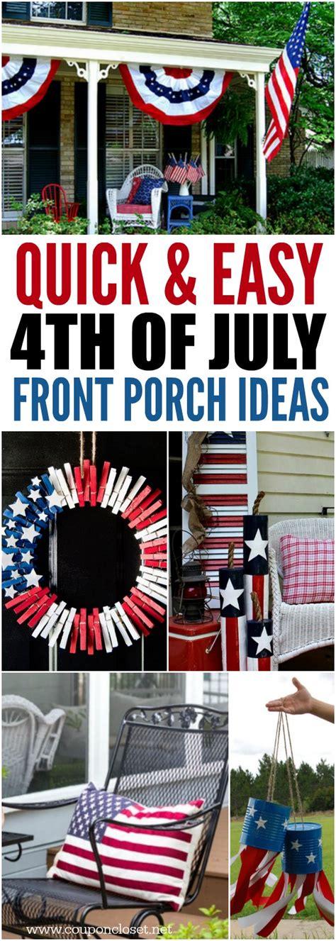 July Front Porch Ideas Patriotic Outdoor