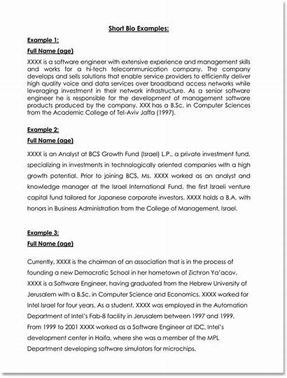 Biography Examples Templates Word Pdf