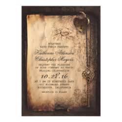 zazzle wedding invitations skeleton key vintage wedding invitations zazzle