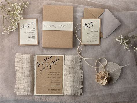 rustic wedding invitations rustic chic wedding invitation ideas weddingplusplus