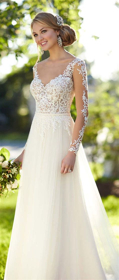Stella York Long Lace Sleeved Wedding Dress Inspire Me