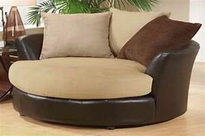 Elegant Comfy Swivel Chair Living Room Wide Fabric