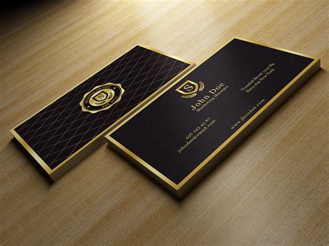 Gold And Black Business Card ~ Business Card Templates on