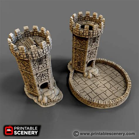 winterdale dice tower printable scenery