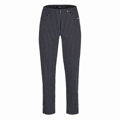Robell Trousers Pinstripe Bella Navy Banchory Bentleys