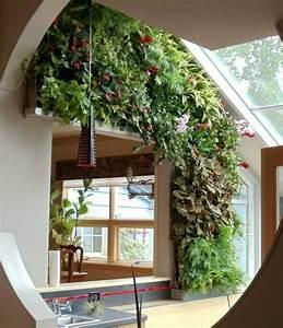 gruner vertikaler garten im innenraum stilvoll und With französischer balkon mit vertikaler garten indoor