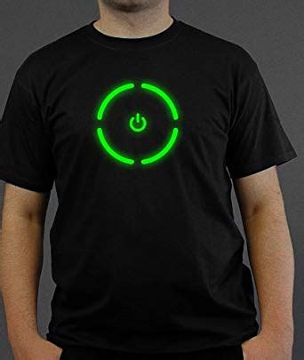 xbox t shirt xbox 360 console power button glow in the t shirt black size 3xl clothing