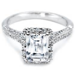 10000 engagement ring 10000 engagement rings emerald cut sides 1