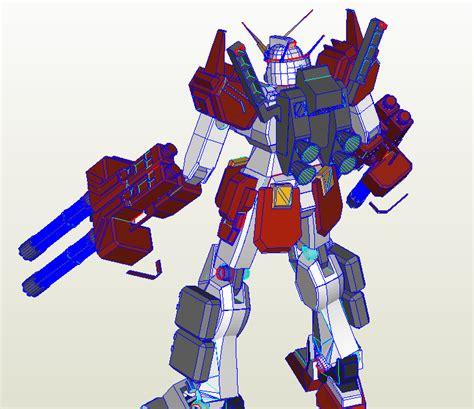 Designers Bolivia Gundam Heavyarms Papercraft Ova Versio