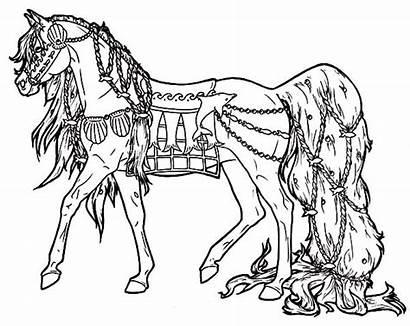Horse Coloring Carousel Kid Favorite Sea
